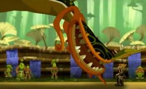 Armand invoque une plante géante qui a failli tuer Tristepin
