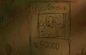 L'avis de recherche de Ruel, gravé dans une cellule du palais Sadida