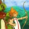 Tristepin répare l'arc d'Evangelyne et lui rend