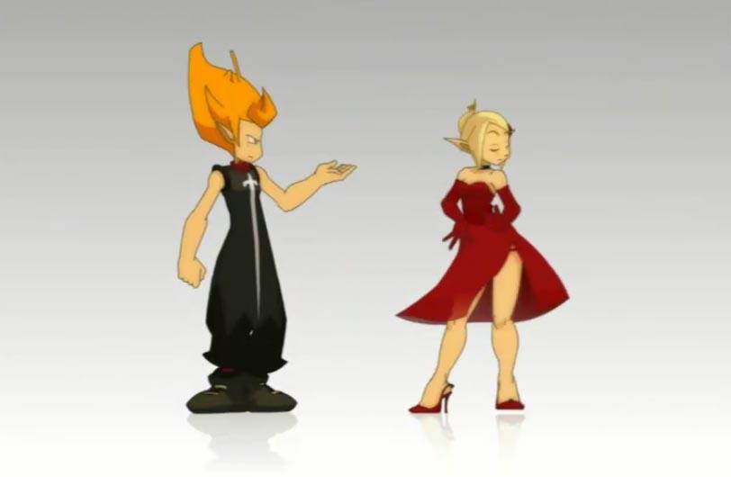 La danse entre Tristepin et Amalia est très sensuelle (Wakfu)