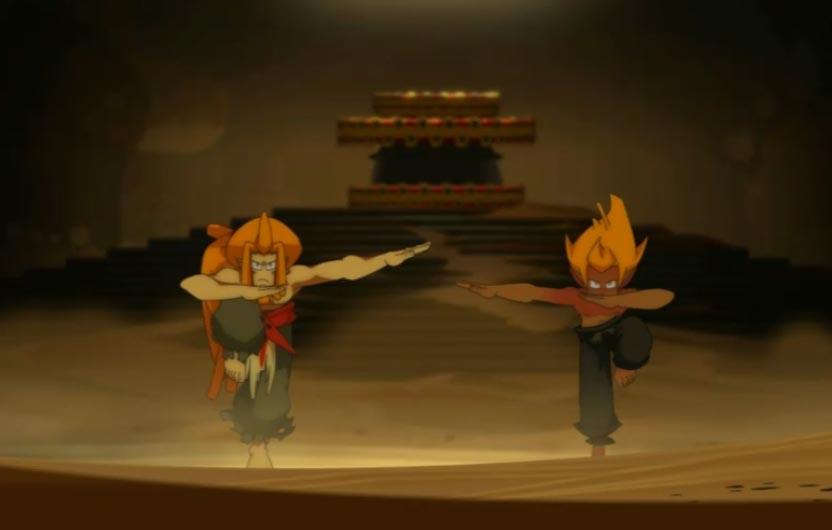 Le rituel de retrouvailles de iops de Goultard est une danse un peu spéciale