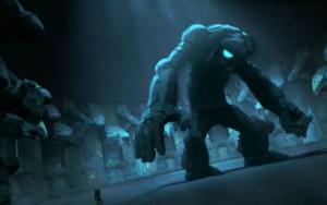 Le fantôme a donné vie à la statue de pierre géante
