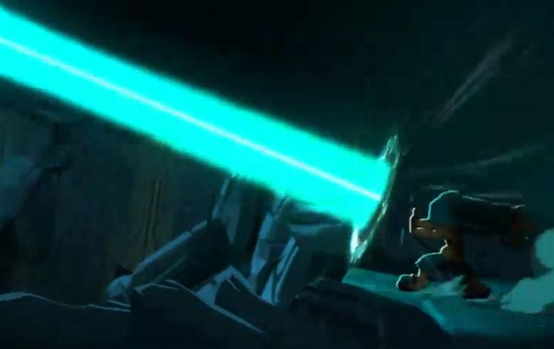 Grâce à ses portails, Yugo a pu renvoyer au Golem ses attaques