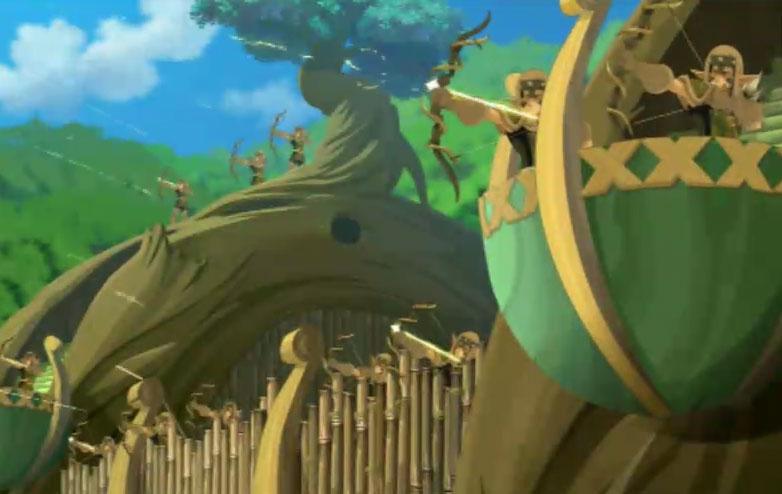 La Garde Crâ aide à défendre le Royaume Sadida