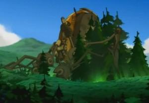 La garde Sadida fait pousser les arbres devant la forteresse de Nox