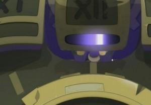 L'œil de Razortemps a un balayage lumineux similaire à celui des Cylons