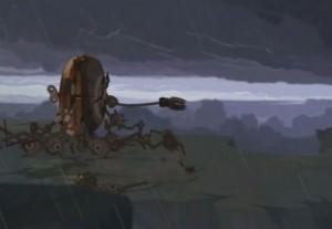 La forteresse mobile de Nox est téléportée par l'Elicacube jusqu'au Mont Zinit