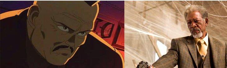 Akira : le colonel et Morgan Freeman