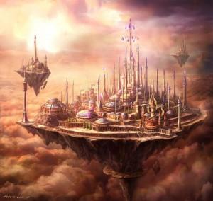 Dalaran volant au dessus du Norfendre dans la colère du roi liche