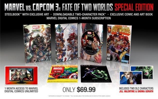 Contenu Marvel vs Campcom 3 collector