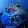 Base Zerg de Starcraft 2 (gagnants du concours Diorama de Starcraft 2)