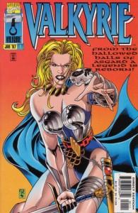 Couverture d'un magazine Marvel avec le personnage de Valkyrie