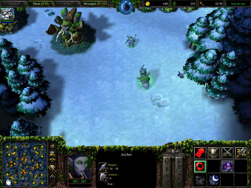 Exemple de gameplay dans Warcraft 3