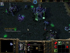 Exemple d'une mission des morts vivants dans Warcraft 3