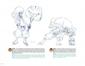 le design de Xav le boulanger est inspiré de Xavier Houssin (le chef character designer de la série)