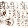 Recherches sur le chien de Ruel (Page 126 de l'art book Tome 4 de Wakfu)