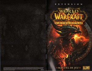 Couverture de la notice du jeu Cataclysm (World of Warcraft)