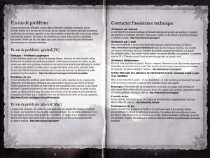 Page 6 et 7 de la notice du jeu Cataclysm (World of Warcraft)