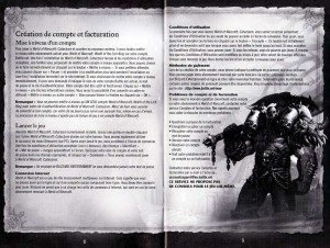 Page 8 et 9 de la notice du jeu Cataclysm (World of Warcraft)
