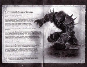 Page 14 et 15 de la notice du jeu Cataclysm (World of Warcraft)