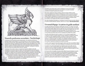 Page 22 et 23 de la notice du jeu Cataclysm (World of Warcraft)