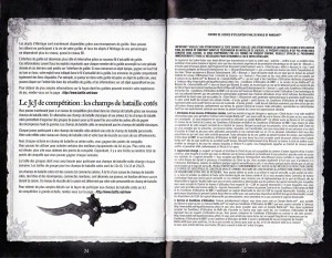 Page 24 et 25 de la notice du jeu Cataclysm (World of Warcraft)