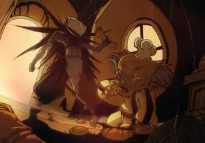 La scène où le Corbeau Noir vole la carte à Ratafouine est évoquée dans le Tome 1 de Wakfu Heroes