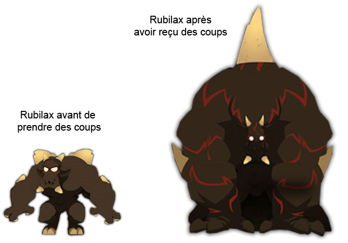 Les deux aspects de Rubilax (Wakfu)