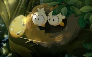 Grougaloragran a prélevé un oeuf dans un nid de tofus
