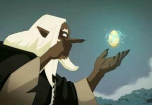 Grougaloragran injecte de la magie dragonique dans l'oeuf de Az