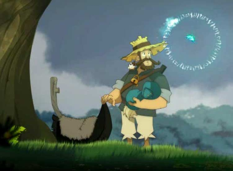 Une plume magique de Az explique à Alibert les origines de Yugo