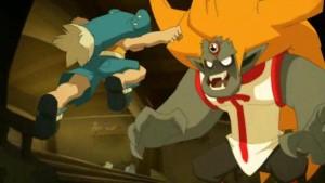 Yugo affronte Tristepin qui est possédé par Rubilax