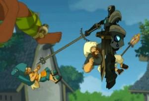 Nox attaque Yugo pour l'obliger à lui révéler où se trouve le dragon