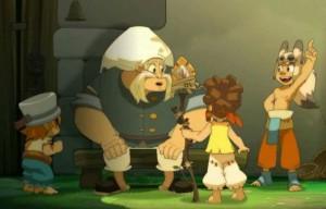 Heureusement pour Alibert les autres enfants du village vont lui tenir compagnie ne l'absence de Yugo