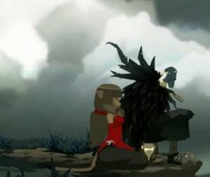 Kabrok arrive à convaincre Miranda qu'il joue le Corbeau Noir pour le bien de leur commerce