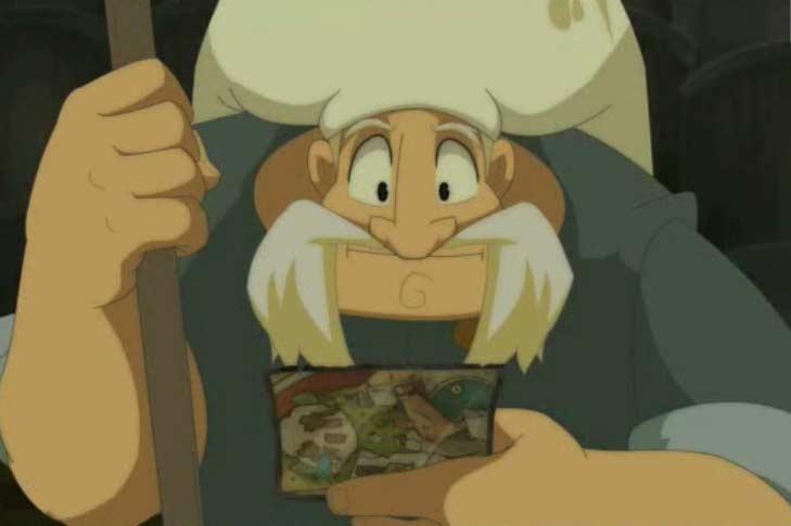Alibert lit une carte envoyée par Yugo