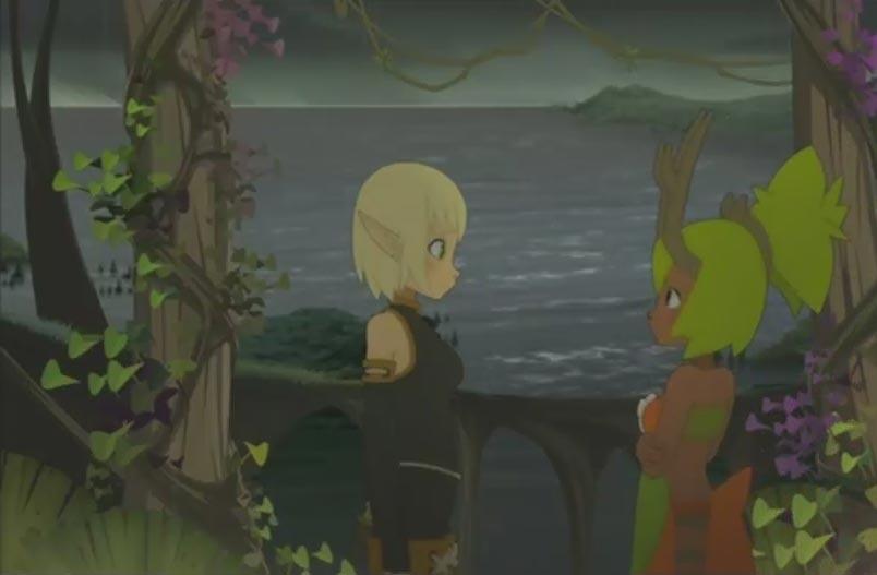 Amalia pleure dans les bras d'Evangelyne