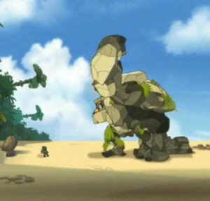 Adamaï invoque un craqueleur géant