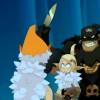 Pendant que Tristepin et Evangelyne s'expliquent le chef des pirates attaque