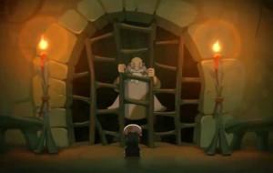 Le bébé foreur va apporter les clés à Ruel pour qu'il s'évade de sa prison