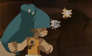 Adamaï et Az voyagent sans problème avec Yugo dans ses portails de téléportation
