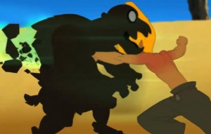 Tristepin se reprend et détruit les clones de pierre