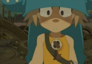 Lorsque Yugo voit les larmes de Nox, il s'arrête aussitôt de lui faire des reproches