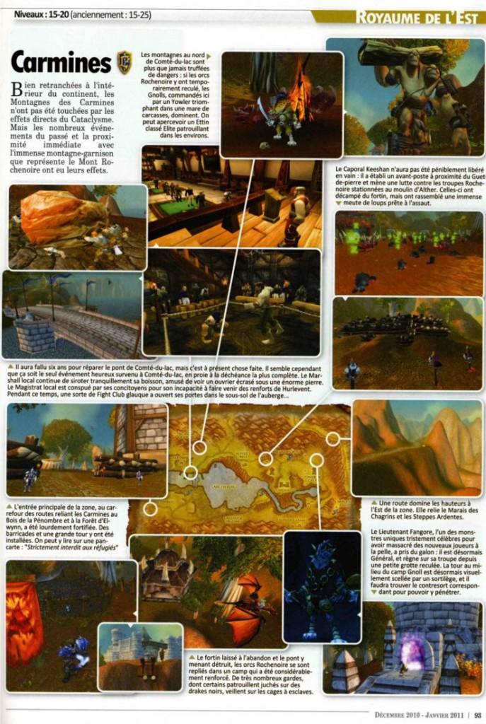 Page du Hors Série Cataclysm de Canard PC / Millenium. Exemple d'une page Atlas