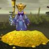 Exemple de femmes gobelin dans World of Warcraft. Vous avez bien vu : c'est bien une prêtresse de la Lumière qui aide le monde... en échange de Pièces d'Or. Inutile d'essayer de lui voler, son dieu la protège.