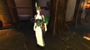 Style féminin worgen dans World Of Warcraft : on voit que c'est très Angleterre victorienne