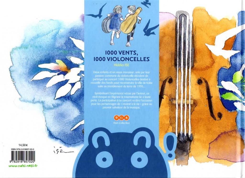 Dos de la couverture de 1000 vents, 1000 violoncelles (nobi nobi !)