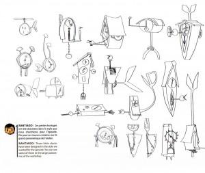 Certains croquis ne provoquent pas l'émerveillement (Page 43 de l'art book HS de Wakfu)