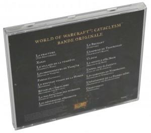 Dos de la boîte de l'OST du jeu Cataclysm (World of Warcraft)