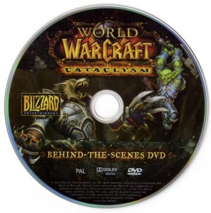 DVD du making of du jeu Cataclysm (World of Warcraft)